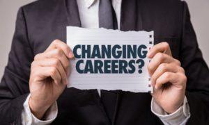 Man changing careers