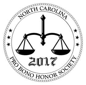 Penelope and Amanda Inducted Into 2017 North Carolina Pro Bono Honor Society