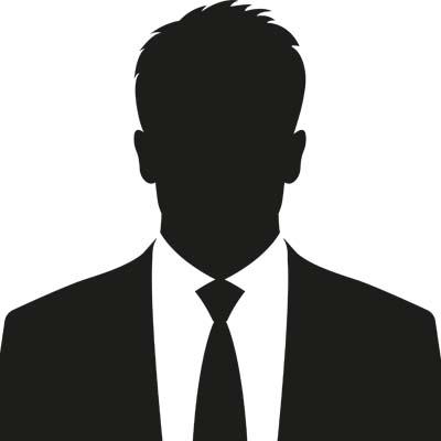 Business man B&W graphic